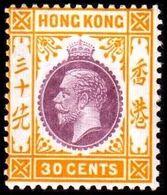 1921-1926. HONG KONG. Georg V 30 CENT. Hinged. (Michel 121) - JF364519 - Hong Kong (...-1997)