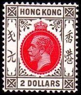 1921-1926. HONG KONG. Georg V TWO DOLLARS. Hinged. (Michel 124) - JF364521 - Hong Kong (...-1997)