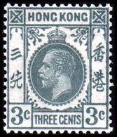 1931-1937. HONG KONG. Georg V THREE CENTS. Hinged. (Michel 128) - JF364522 - Hong Kong (...-1997)