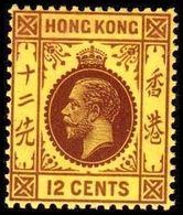 1931-1937. HONG KONG. Georg V 12 CENTS. Hinged. (Michel 131) - JF364525 - Hong Kong (...-1997)