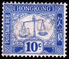 1924. HONG KONG. POSTAGE DUE. 10 C. Hinged. (MICHEL P. 5x) - JF364526 - Hong Kong (...-1997)