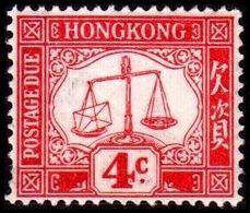 1924. HONG KONG. POSTAGE DUE. 4 C. Hinged. (MICHEL P. 3x) - JF364527 - Hong Kong (...-1997)