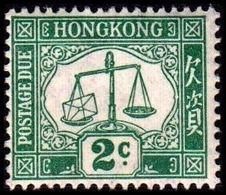 1924. HONG KONG. POSTAGE DUE. 2 C. Hinged. (MICHEL P. 2x) - JF364528 - Hong Kong (...-1997)