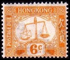 1924. HONG KONG. POSTAGE DUE. 6 C. Hinged. (MICHEL P. 4x) - JF364529 - Hong Kong (...-1997)