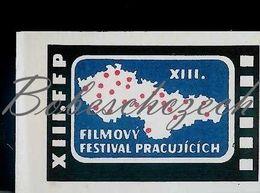 L9 216 CZECHOSLOVAKIA 1962 XIII. FFP Film Festival + Map Of CZechoslovakia And Festival Cities - Boites D'allumettes - Etiquettes