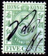1938. HONG KONG STAMP DUTY. FIVE CENTS. Pen Cancel. (Michel 16) - JF364605 - Hong Kong (...-1997)