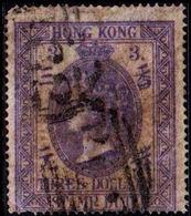 1874. HONG KONG. VICTORIA. STAMP DUTY. 3 THREE DOLLARS. (Michel 2) - JF364607 - Hong Kong (...-1997)