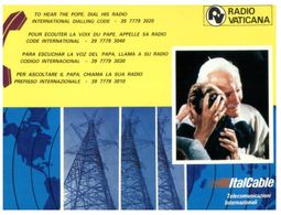 (C 35) Italy - Vatican Radio - Pope John Paul II - Pape Jean Paul II - Papi