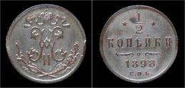 Russia Nicolas II 1/2 Kopek 1898 - Rusia