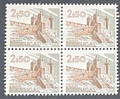 POR#3450-73-Block Of 4 MNH Stamps Of 2$50 - Paísagens E Monumentos - 3rd Series - Portugal - 1973 - Blocs-feuillets