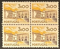 POR#3438-76-Block Of 4 MNH Stamps Of 3$00 - Paísagens E Monumentos - 2nd Series - Portugal - 1976 - Blocs-feuillets