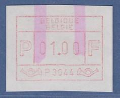 ATM Belgien ENDSTREIFEN-ATM P3044 ** Wertstufe 1.00 BFr. Endstreifen-Anfang - Frankeervignetten