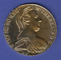 Maria Theresia-Taler. Vergoldetes PP-Exemplar Mit Edler Wirkung.  - Altre Monete