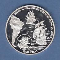 West- Sahara Silbermünze 1000 Pesetas Pedro Álvares Cabral Entd. Brasiliens PP - Monedas