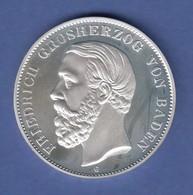 Friedrich Von Baden Edle Silbermedaille PP, Prägejahr 2001, 25g Ag925 - Tokens & Medals