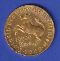 Münze Westfalen Notgeld Inflation 1923 10000 Mark Freiherr V. Stein / Pferd - Altri