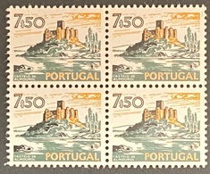 POR#3420-74-Block Of 4 MNH Stamps Of 7$50 - Paísagens E Monumentos - 4th Series - Portugal - 1974 - Blocs-feuillets