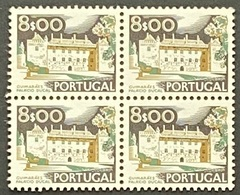 POR#3413-75-Block Of 4 MNH Stamps Of 8$00 - Paísagens E Monumentos - 3rd Series - Portugal - 1975 - Blocs-feuillets