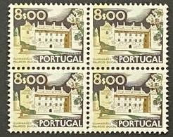 POR#3412-78F-Block Of 4 MNH W/ Phosphorescent Stripe Stamps Of 8$00 - Paísagens E Monumentos - 3rd Series-Portugal-1978 - Blocs-feuillets