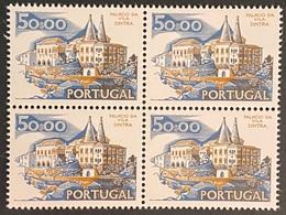 POR#3389-73-Block Of 4 MNH Stamps Of 50$00 - Paísagens E Monumentos - 1st Series - Portugal - 1973 - Blocs-feuillets