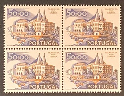 POR#3388-77-Block Of 4 MNH Stamps Of 50$00 - Paísagens E Monumentos - 1st Series - Portugal - 1977 - Blocs-feuillets