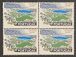 POR#3380-78-Block Of 4 MNH Stamps Of 100$00 - Paísagens E Monumentos - 1st Series - Portugal - 1978 - Blocs-feuillets