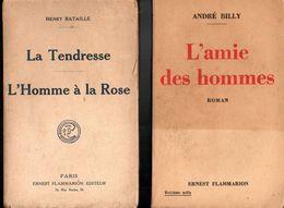 Lot 2 Livres  - La Tendresse L'homme à La Rose De 1922 & L'amie Des Hommes De 1935 - Auteurs Classiques