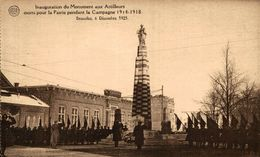 Inauguration Du Monument Aux Artilleurs Morts Pour La Patrie... Bruxelles 6 Décembre 1925  1914/15 WWI WWICOLLECTION - Autres