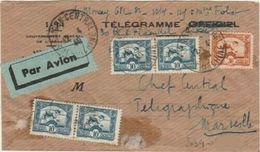INDOCHINE - ENVELOPPE TELEGRAMME DE SAIGON A DESTINATION DE MARSEILLE - Indocina (1889-1945)