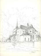 CLERMONT Sur BERWINNE -  L'Eglise  - Lithographie De Laurent BALHAN (Mi11) - Lithographies