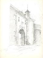 CLERMONT Sur BERWINNE -  L'Entrée Du Château  - Lithographie De Laurent BALHAN (Mi11) - Lithographies