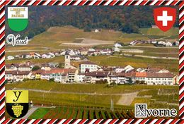 Postcard, REPRODUCTION, Switzerland, Canton Vaud, Yvorne - Carte Geografiche