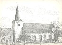 GRAVENVOEREN / FOURON - LE - COMTE  -  L'Eglise - Lithographie De Laurent BALHAN (Mi11) - Lithographies