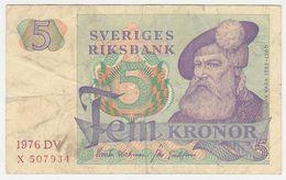 Sweden P 51 C - 5 Kronor 1976 - Fine+ - Suède