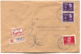OSIJEK - ZAGREB, Year 1946. DF YUGOSLAVIA  REGISTERED HITNO EXPRES, OLD COVER - Kroatien