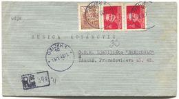 OSIJEK - ZAGREB, Year 1946. DF YUGOSLAVIA  REGISTERED, OLD COVER - Kroatien