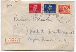 OSIJEK - ZAGREB, Year 1946. DF YUGOSLAVIA  ŽURNO  EXPRES, OLD COVER - Kroatien