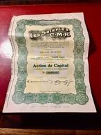 Les  Soieries  C.M.R.--------Action  De  Capital  De  200 Frs - Industrie