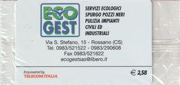 28-Carta Alberghi-Eco Gest-Rossano (CS)-Nuova In Confezione Originale - Italy