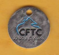 Jeton De Caddie En Métal - CFTC - Syndicat - Trolley Token/Shopping Trolley Chip