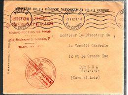 34440 - Direction Service Des P.G. - Marcophilie (Lettres)
