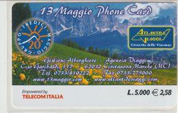 30-Carta Alberghi-Atlantide Viaggi-Civitanova Marche-(MC)-Nuova - Italy