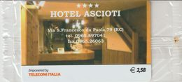 32-Carta Alberghi-Hotel Ascioti-Reggio Calabria-Nuova In Confezione Originale - Italy