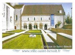 SAINT BENOIT VIENNE - L ABBAYE ( FONDEE AU VII SIECLE ) PAP ENTIER POSTAL FLAMME 2010, VOIR LES SCANNERS - Archäologie