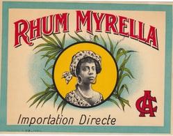 étiquette Neuve - RHUM  MYRELLA - FEMME CREOLE - Rhum