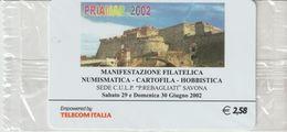35-Carta Alberghi-Priamar 2002-Savona-Nuova In Confezione Originale - Italy