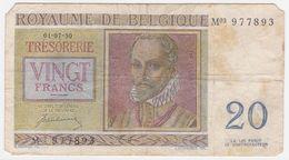 Belgium P 132 A - 20 Francs 1.7.1950 - Fine - [ 6] Treasury