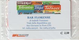 37-Carta Alberghi-Bar Florense-S.Giovanni In Fiore (CS)-Nuova In Confezione Originale - Italy