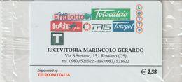 44-Carta Alberghii-Ricevitoria Maringolo-Rossano (CS)-Nuova. In Confezione Originale - Italy