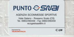 45-Carta Alberghii-Punto Snai-Rossano Scalo (CS)-Nuova. In Confezione Originale - Italy